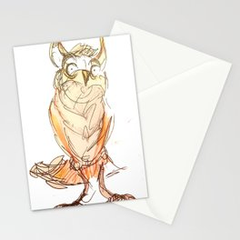 Owl scribble Stationery Cards