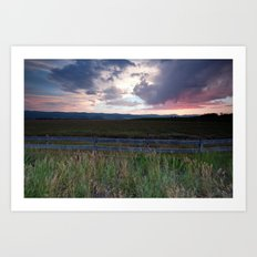 Sunset in Star Valley Art Print