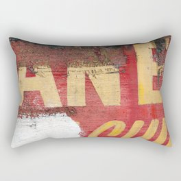 Yellow letters on red Rectangular Pillow