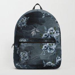 Black Ice Winter Roses Backpack