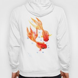 Goldfish Nursery Illustration Feng Shui Two Fish Art Hoody