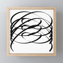 Family - Minimalism Drawing Black White Framed Mini Art Print