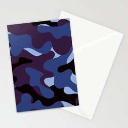 purple camouflage pattern Stationery Cards