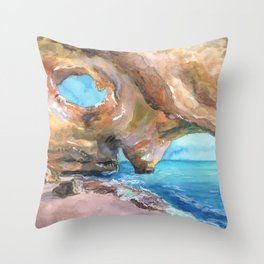 Benagil Cave, Portugal Throw Pillow