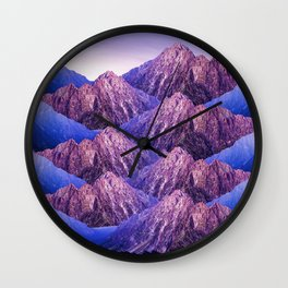 The Mountains of my Heart Wall Clock