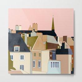 france brittany houses shape art Metal Print