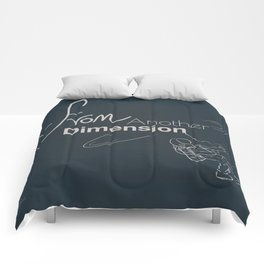 space - from another dimension Comforters