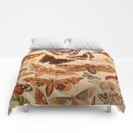 Vintage insects 1 Comforters
