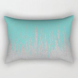 Concrete Fringe Turquoise Rectangular Pillow