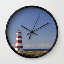 Stripped Lighthouse - Briar Island, Nova Scotia Wall Clock