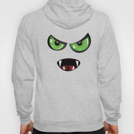 Evil face with green eyes Hoody