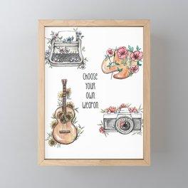 Weapon of Choice Framed Mini Art Print