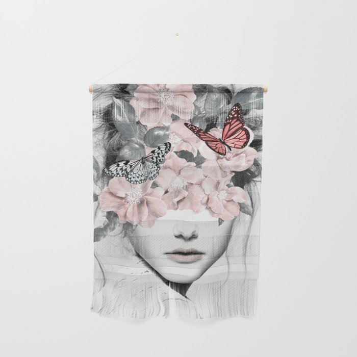 WOMAN WITH FLOWERS 10 Wall Hanging