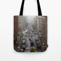 East Harlem NYC Snowy Saturday Tote Bag