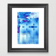 Barnsley Blue Framed Art Print