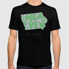 Is This Heaven? MEDIUM Black Mens Fitted Tee