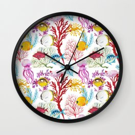 Coral Reef - All together Wall Clock