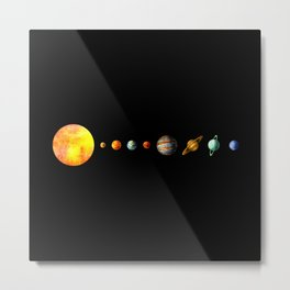 The Solar System Metal Print