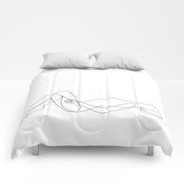 sleeping nudity Comforters