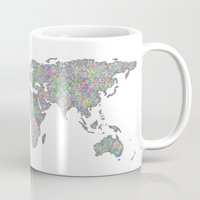 map of the world Mugs featuring World map by David Zydd