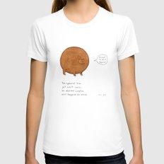 the spherical bear Womens Fitted Tee White MEDIUM