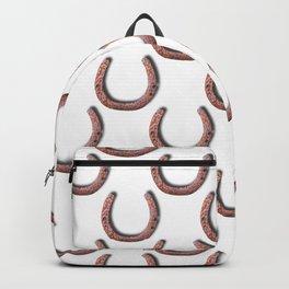 Rusty Horseshoe Polka Dot Pattern Backpack