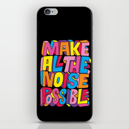 Make all the noise possible! iPhone & iPod Skin