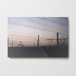 Lines of the Lost Metal Print