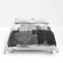 Black and White Minimalist Geometric Abstract Comforters