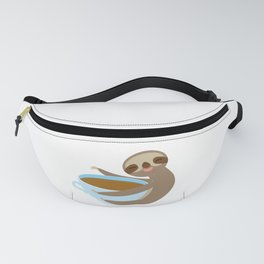 sloth & coffee 2 Fanny Pack