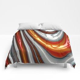Orange Drip Comforters