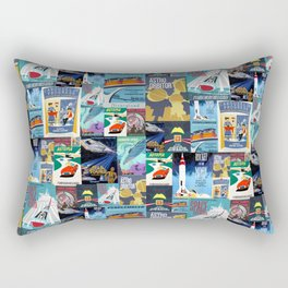 Tomorrowland Vintage Attraction Posters Rectangular Pillow