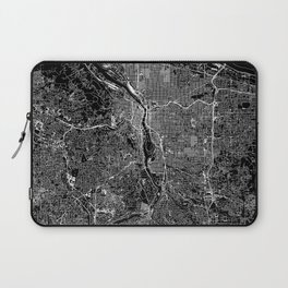 Portland Black Map Laptop Sleeve