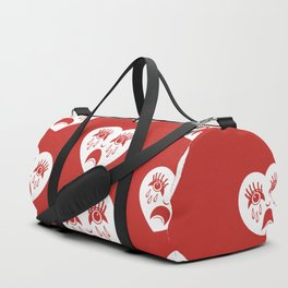 Sad Heart Pattern Duffle Bag
