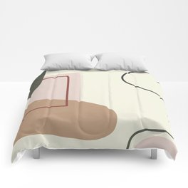 live with love - on ebony backgroung Comforters