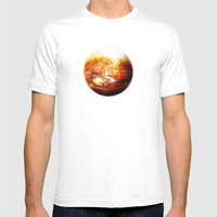 Element: Fire White Mens Fitted Tee MEDIUM
