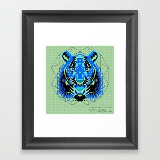 Geometric Tiger Framed Art Print