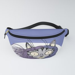cat holds the golden hen Fanny Pack
