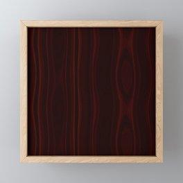 Mahogany Wood Texture Framed Mini Art Print