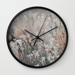 Desert Flowers Wall Clock