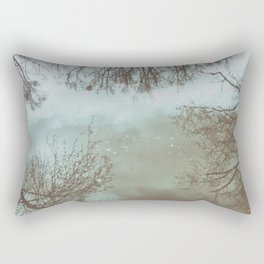 trees in the water Rectangular Pillow