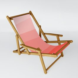 Diagonal Living Coral Gradient Sling Chair