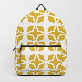Mid Century Modern Star Pattern Mustard Yellow 551 Backpack