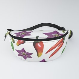 Chili Peppers Botanical Pattern Fanny Pack