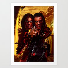 SWTOR - Sith twins selfie Art Print