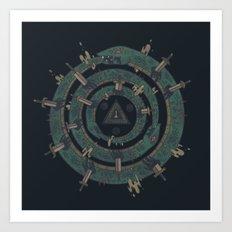 The Cycle Art Print
