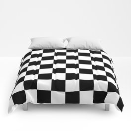 Black & White Checkered Pattern Comforters