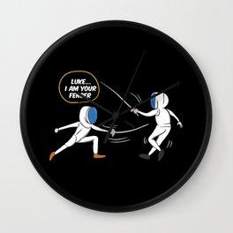 Luke I Am Your Fencer Wall Clock