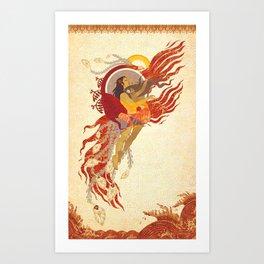 Phenix's dance Art Print