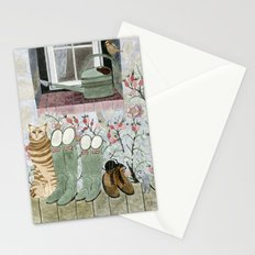 Autumn at grandparents garden Stationery Cards
